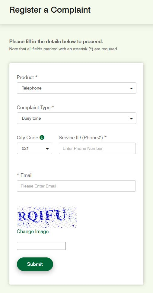 ptcl-complaint-register